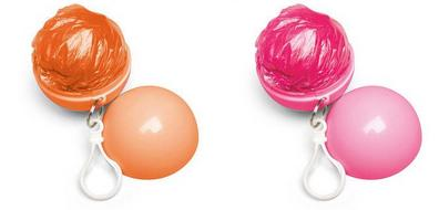 pink orange poncho balls Capsule Promo Packaging