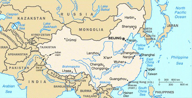 map of china Geography &amp; Provinces