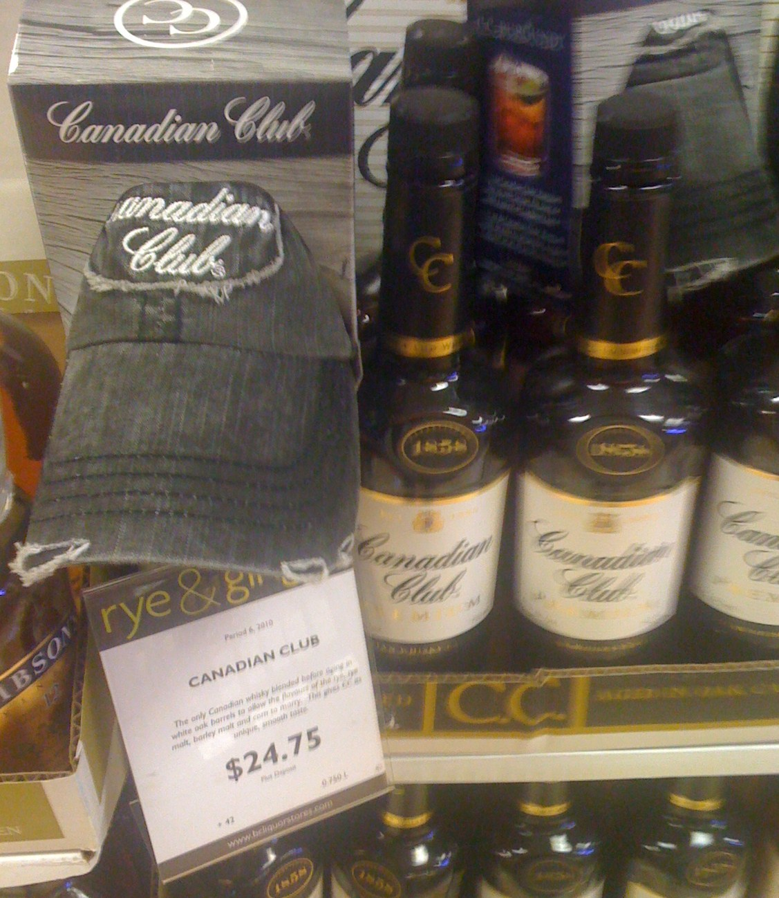 canadian club on pack promo1 Canadian Liquor Shops and Promotional Products.