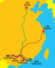 hong kong beijing shanghai train route map Trains to Chinese Capitals, HK to Shanghai and Beijing