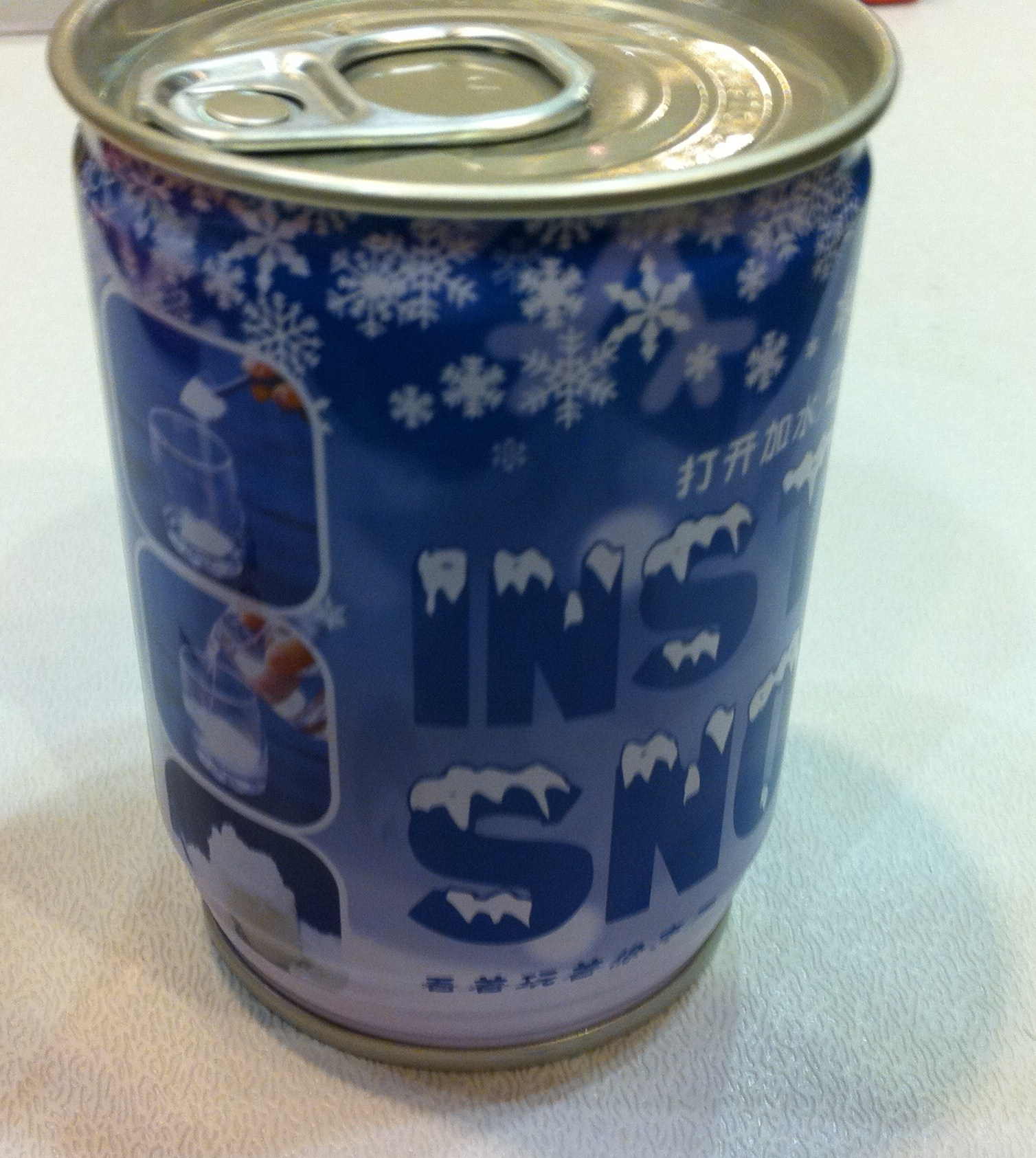 promotional snow in can Advertising with Snow (in a can).