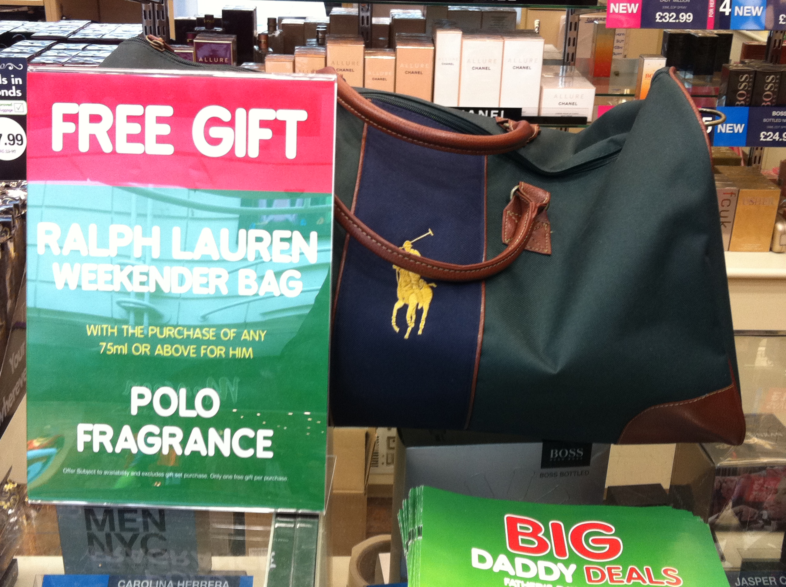  Ralph Lauren Summer Holdall bag   GWP in the UK.
