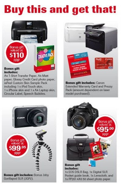 canon promo Canon Business Gifts Promo in NZ.