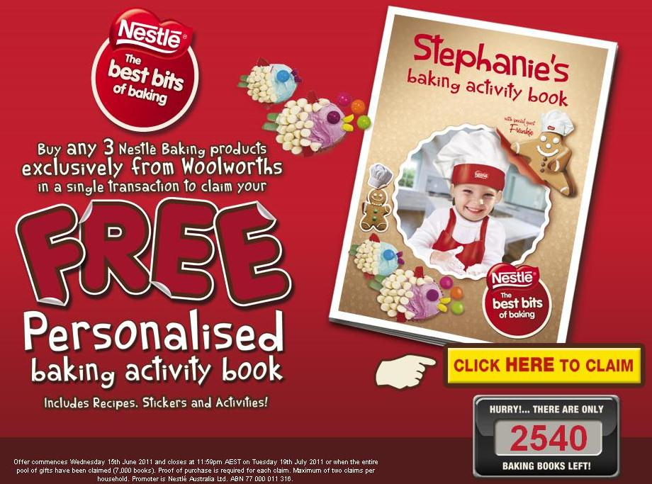 nestle Nestle baking promotion at Woolworths