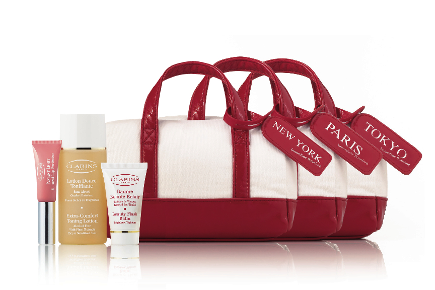 valisette travel retail ny paris tokyo Duty Free Canada Promo: Clarins Skin Care GWP
