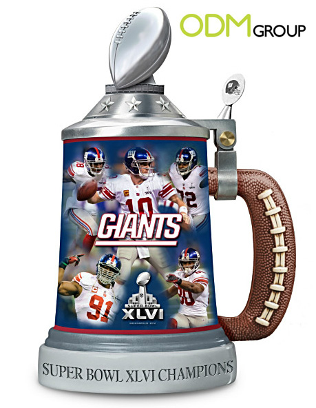 promotional beer steins Super Bowl Champions 2012: New York Giants Porcelain Stein