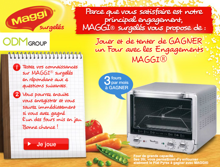 maggi promotional product Lucky Draw Promo   Moulinex Oven by Maggi