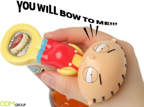 stewie bottle opener Promotional Gift Ideas: Talking bottle opener