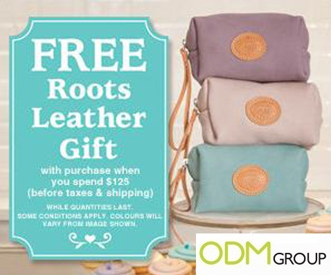 GWP Pouch by Roots Canada GWP Promo   Free Leather Gift by Roots