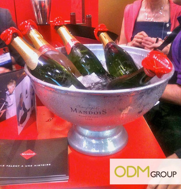 VinExpo 2012 Mandois Champagne Bucket 629x654 VinExpo 2012   Champagne Mandois Promotional Products