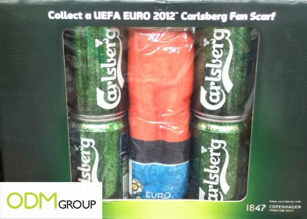 Carlsberg Euro Fan Scarf 629x450 Carlsberg On Pack Promos   UEFA EURO 2012 Promotional Fan Scarf
