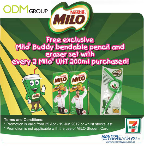Milo Bendable Pencil and Eraser Set Nestle Milo GWP Promo: Bendable Pencil & Eraser Set