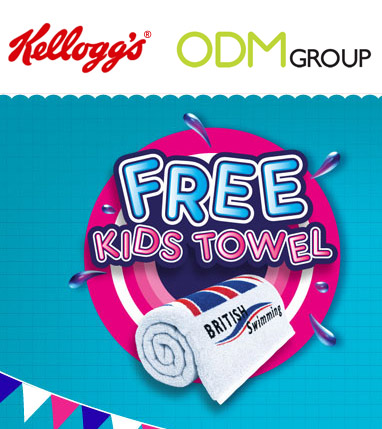 Promotional GWP Kelloggs Children Towel Promotional Gift   Kelloggs Kids Towels