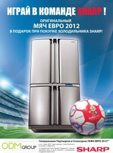 Sharp plakat A3 maket lak kongrev copie 223x300 Sharps GWP Russia   UEFA 2012 soccer ball