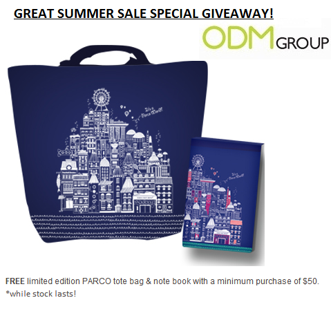 Parco GWP Tote Bag Notebook PARCO GWP   Tote Bag and Notebook