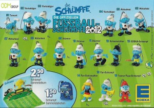 Edeka Promotion German Football Smurfs 300x212 German Edeka Promotion   Football Smurfs