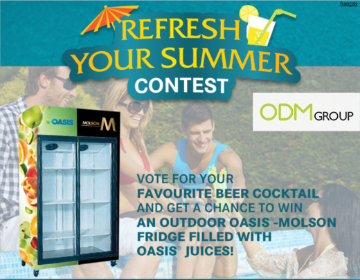 Free Fridge by Oasis and Molson Canada Promotional Fridge Oasis Molson Canada