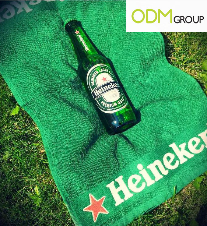 Heineken towel with logo Heineken Promotion Denmark