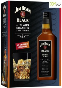 Jim Beam Black Promotion 212x300 Promotional Gift    Whiskey Glass by Jim Beam Black