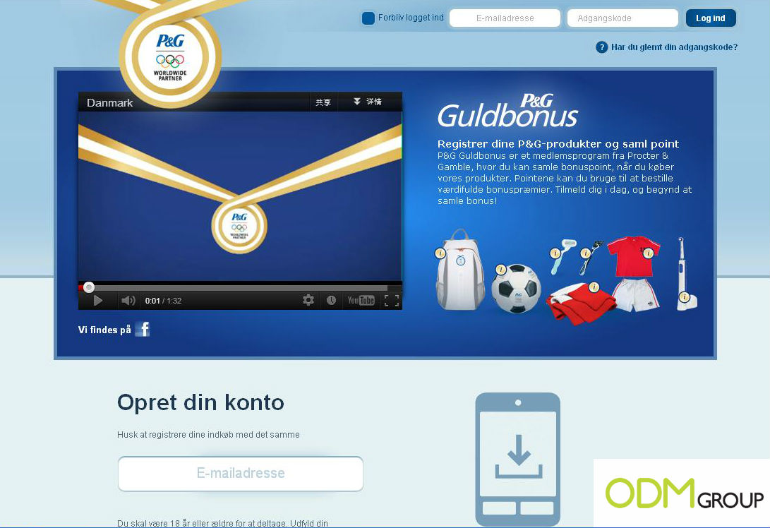 PG with logo Procter & Gamble Denmark Promotional Gift Campaign
