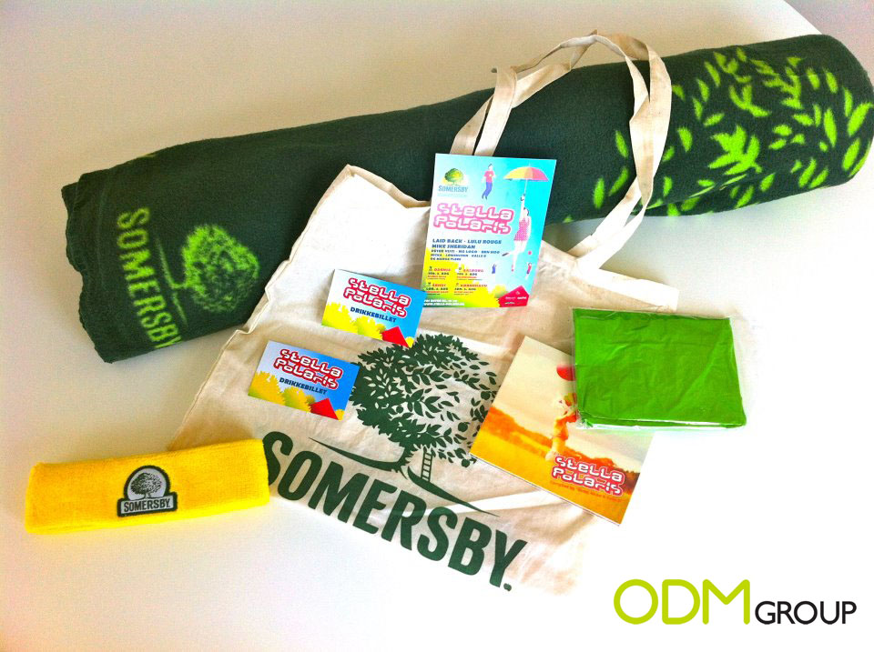 Somersby goodie bag with logo for blog1 Promotional Gifts by Somersby