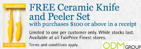 ceramic knife Fairprice GWP: Ceramic Knife and Peeler Set