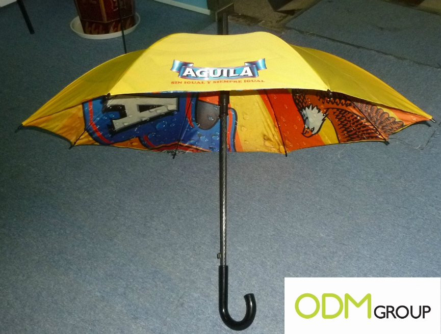 High quality heat transfer 2 Umbrella Inside Heat Printing