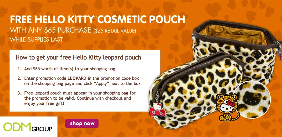 Sanrio GWP Promotional Hello Kitty Cosmetic Pouch Sanrio   GWP Hello Kitty Leopard Cosmetic Pouch