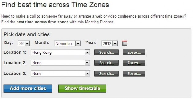 China Timezone - Meeting Planner